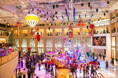 This Christmas, LANDMARK is transformed into a spectacular circus as we welcome Santa Paws and his talented friends, who draw on their inner strength to create the wonder of the festive season.
