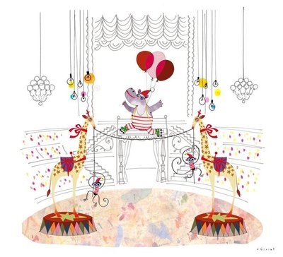 The stunning installation has been brought to life by an international team of artistic collaborators, including French illustrator Eric Giriat, who has drawn several delightful scenes depicting Santa Paws and his friends performing the most amazing circus acts.