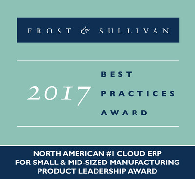 Frost & Sullivan Recognizes Kenandy with the 2017 Product Leadership Award as the #1 Cloud ERP for Small & Mid-sized Manufacturing