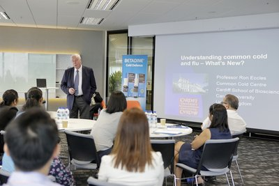 Professor Ronald Eccles at the BETADINE(R) Cold Defence launch media roundtable in Singapore