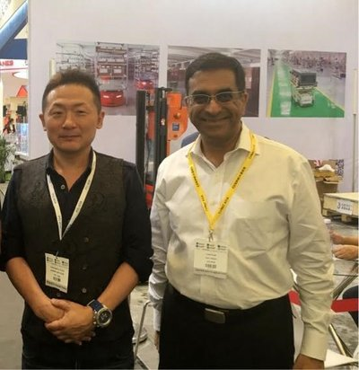 Manabu Matsuura, Corporate Officer of Nitori Holdings and CEO of Home Logistics, and Nalin Advani, CEO - APAC, GreyOrange