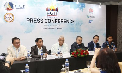DICT and PNP together with its partner Huawei has successfully hosted a press conference at the i-CiTY Summit 2017
