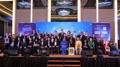 Winners Group Photo of the Awarda graced by Her Highness Tengku Muhaini, Princess of Pahang, The Honourable Senator Khairul Azwan and Strategic Partner, Brit Parking, Danai Spa and MCM Holding Ltd.