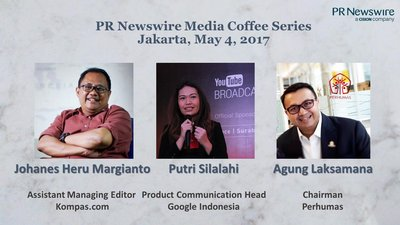Speakers for PR Newswire's Indonesia Media Coffee on May 4