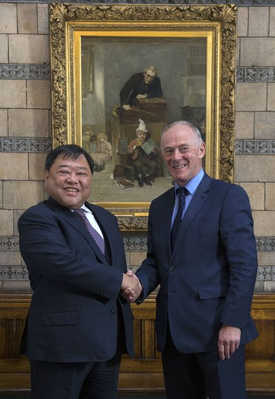 Tan Sri David Chiu and Sir Richard Leese, leader of Manchester City Council, at The Celebratory Dinner for the Signing of Northern Gateway Project