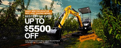 SANY Unveils Promotion on Compact Excavators