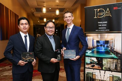 (From left): Dhachadech Sukjite, Senior Interior Designer of DWP CitySpace Company Limited, Chaijak Watanyoo, Senior Vice President - Product Development of Sansiri Public Company Limited, and Kirk Ellis, Portfolio Director of DWP CitySpace Company Limited.