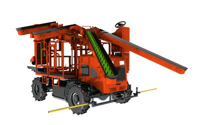 Uni-Orange's intelligent self-propelled cone picker - Apfel AP150