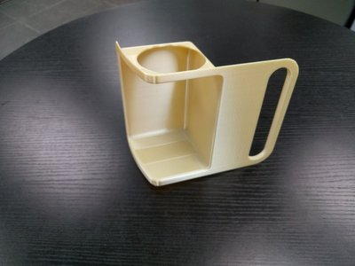 Final first class lavatory part, 3D printed in ULTEM 9085 material with the Stratasys Fortus 900mc Aircraft Interiors Certification Solution