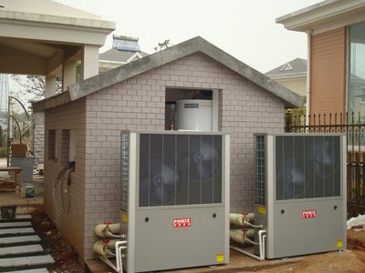 The picture shows the applications of PHNIX house heating heat pump.