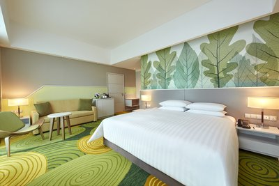 The Superior Premier Room, the largest room category which includes a sofa bed is able to accommodate up to 3 adults
