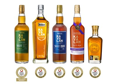 Kavalan Solist Ex-Bourbon Single Cask Strength collects 2017 IWSC 'Trophy'