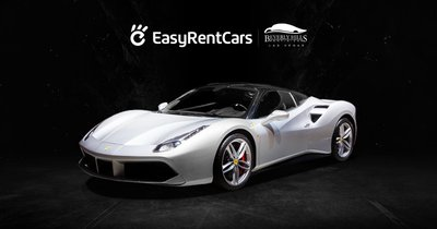 "The exhilarating Ferrari 488, named ""Supercar of the Year 2015"" by the Top Gear car magazine"