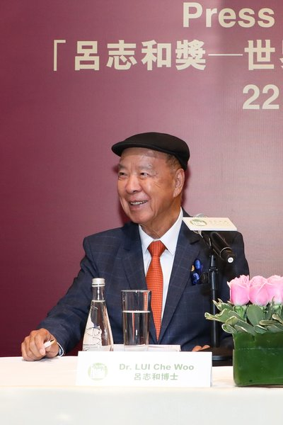 Dr. Lui Che Woo, Founder & Chairman of the Board of Governors cum Prize Council, LUI Che Woo Prize
