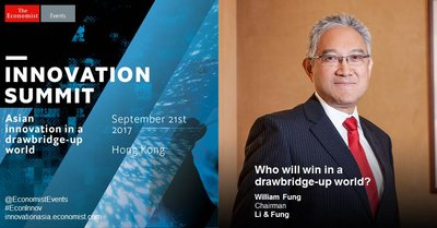 Who will win in a drawbridge-up world? Hear William Fung, group chairman of Li & Fung at the Innovation Summit on September 21st at the JW Marriott Hotel.