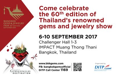Come celebrate the 60th edition of Thailand's longest established gems and jewelry show: Bangkok Gems & Jewelry Fair