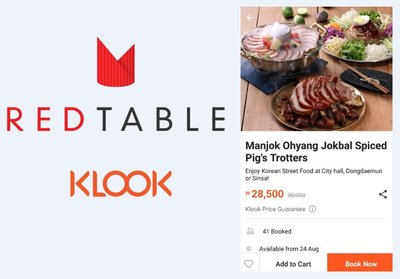 REDTABLE signed a contract with Klook
