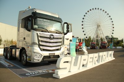 FOTON AUMAN EST-A Super Truck show in astana on 1 September.