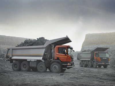 The newly launched lightweight mining tipper body developed for the Indian market
