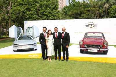 From left to right: Mr Carl Yuen, Curator, Gold Coast Motor Festival 2017, Ms Hilda Lai, Deputy General Manager (Leasing), Sino Group, Mr Eugene Leung, General Manager, Gold Coast Motor Festival, Mr Robert Kaiwai, General Manager, Hong Kong Gold Coast
