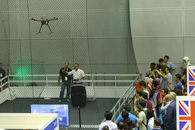 New features at the exhibition is the drone zone. Visitors could witness the drones capabilities while listened directly to the experts.