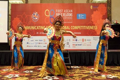 Balinese traditional dance performance to remark the opening of ASEAN PR Conference 2017.