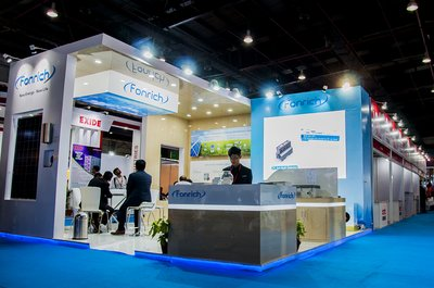 Fonrich exhibition booth in REI 2017, Greater Noida, India