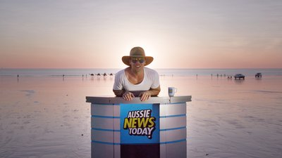 Former Home and Away actor Lincoln Lewis reporting from Broome in WA for Aussie News Today.