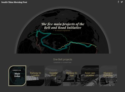 """The South China Morning Post's """"Belt and Road Initiative"""" is named the Best Data Visualisation Project at the World Digital Media Awards in Berlin. This top honour is a valuable addition to the array of over 500 accolades that the SCMP has won in the past five years."""