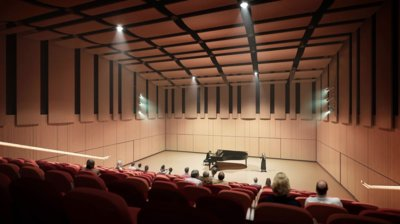 Recital Hall within the Performing Arts Center