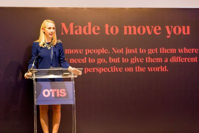 Miss. Julie Brandt, Managing Director, Otis Hong Kong, Macau and Taiwan welcomed hundreds of guests to witness the Made to Move You Exhibition opening ceremony