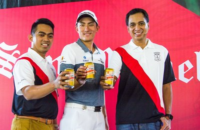 The management team of Delta Djakarta introduced Indonesian Professional Golfer Danny Masrin as the brand ambassador of San Miguel on 23rd October 2017.