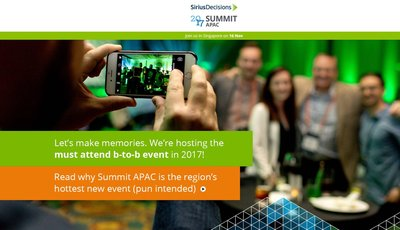 LavaPM, the official gold sponsor of the 2017 SiriusDecisions Event