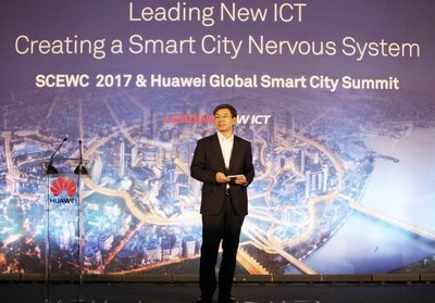 Yan Lida, President of Huawei Enterprise BG, delivered the opening speech at Huawei's Global Smart City Summit.