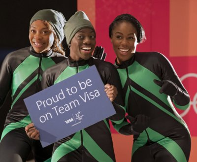 Team Visa welcomes the Nigerian Women's Bobsled Team at the Olympic Winter Games PyeongChang 2018