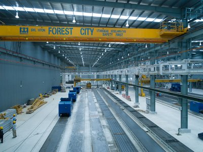 Forest City's industrial park serving the construction industry