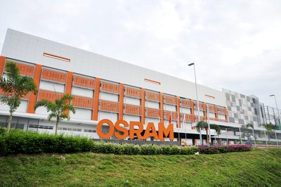 Side view of Osram's new LED chip factory in Kulim, Malaysia.