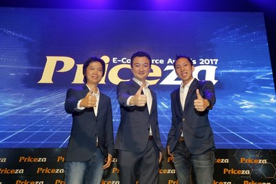 3 Co-founders of Priceza, one of SEA's leading shopping search engines, unveiled Thailand's e-Commerce trends at Priceza E-Commerce Awards 2017