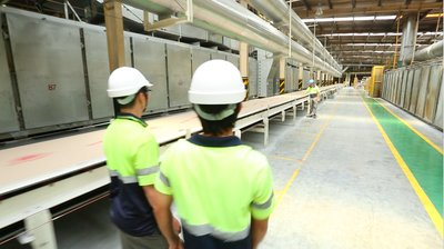 The total capacity of USG Boral is expected to reach 47 million m2 once the new production line commences operations