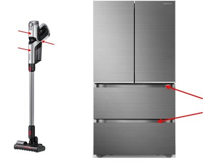 INEOS Styrolution's Novodur(R) Xspray used on Samsung's new range of refrigerators and vacuum cleaners (image courtesy of Samsung Electric, 2017)