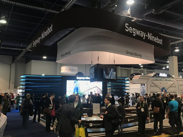 Segway-Ninebot's exhibition area