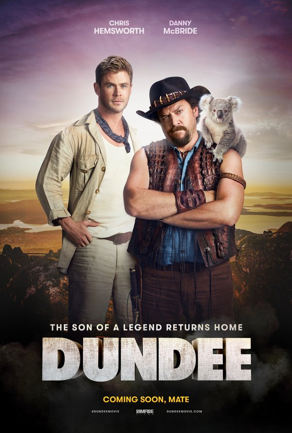 Dundee Movie Poster featuring Chris Hemsworth and Danny McBride