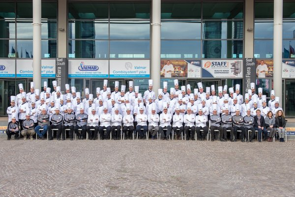 Competing teams at the Coppa del Mondo of Gelateria 2018 (Gelato World Cup) in Rimini, Italy