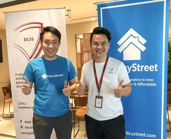 Wilson Beh, Co-founder and COO PolicyStreet insurtech inks deal with Jack Chan, Co-founder DOJO KL coworking space