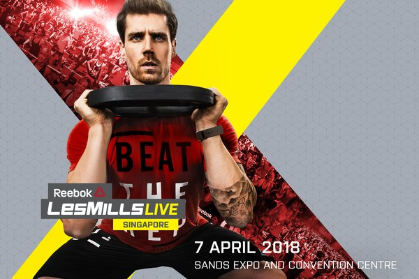 Reebok Les Mills LIVE Singapore, 7 April 2018 at Marina Bay Sands Expo and Convention Centre (Hall C)