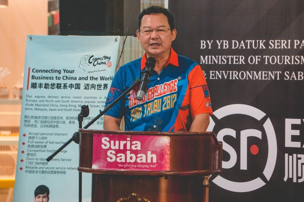 DATUK PANG YUK MING , the Assistant Minister of Tourism, Culture and Environment, Sabah