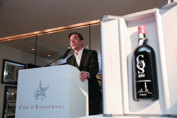 Chief Executive of Cos'd Estournel Mr Raphael Reybier speaking at COS100 Hong Kong Event