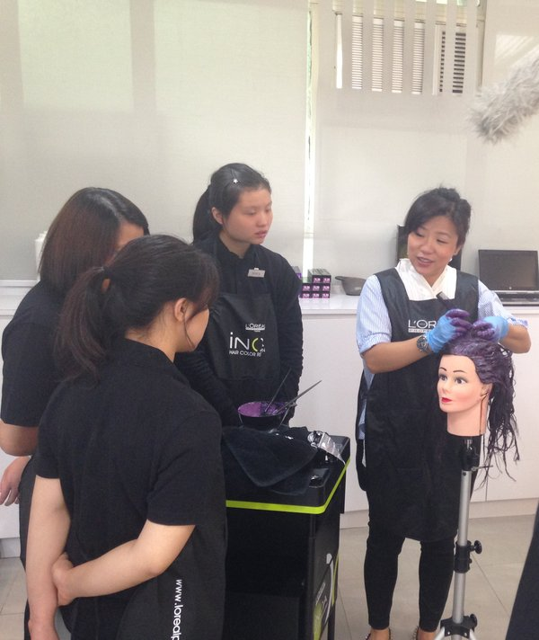 L'Oreal Hong Kong offers a train-the-trainer programme, upgrades the training facilities, sponsors products for training, as well as provides professional advice on salon operations and curriculum development for the BFBL programme.