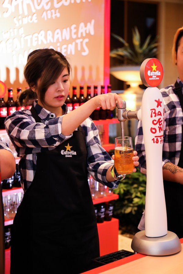 Estrella Damm being served at The Asia's 50 Best Restaurant's party