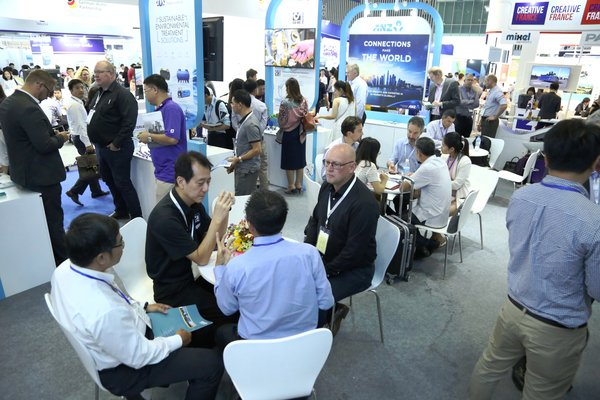 Inside the show floor of Vietwater 2017